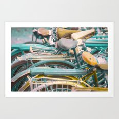Bicicletta Tangle Art Print