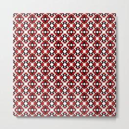 Geometrical Ornaments Red Metal Print