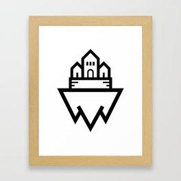 Floating Castle Island Framed Art Print