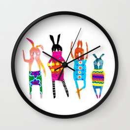 Rabbit Rabbit Wall Clock