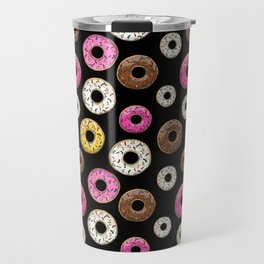 Funfetti Donuts - Black Travel Mug