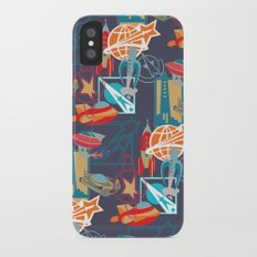 Spaceships and Badges iPhone X Slim Case