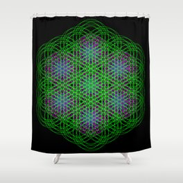 Trippin Circles Shower Curtain