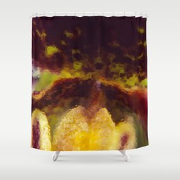 Painted Ladyslipper Orchid Shower Curtain