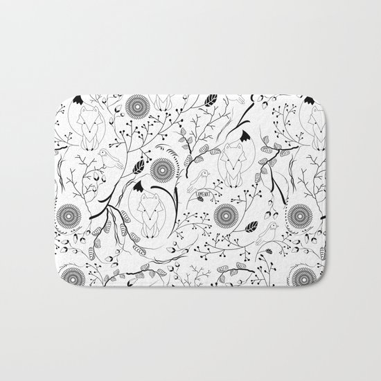 Fox and Bird Bath Mat