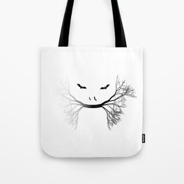 Halloween Jungle Cat Abstract Tote Bag