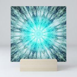 Teal Blue Mandala Mini Art Print