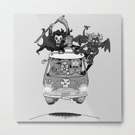 Meddling kids grayscale Metal Print