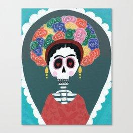 Frida Squelette Canvas Print
