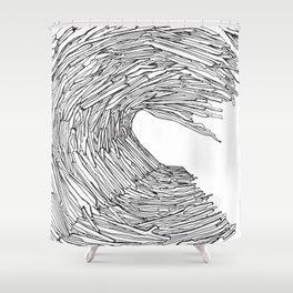 Drift wave Shower Curtain