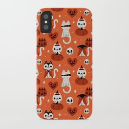 Halloween Kitties (Orange) iPhone Case