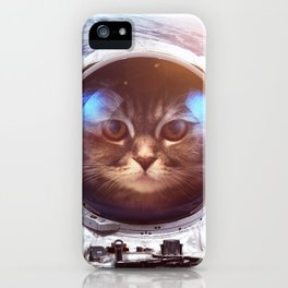 Cat in space iPhone Case