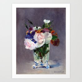 Edouard Manet Flowers in a Crystal Vase Art Print