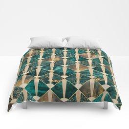 Art Deco Tiles - Ocean Comforters