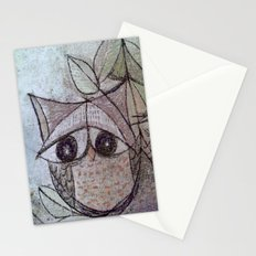 Owl couple Stationery Cards