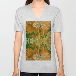 abstract shapes 8 Unisex V-Neck