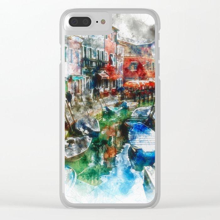 Burano Morning Scene, Venice Clear iPhone Case