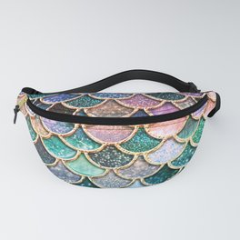 Multicolor Pink And Aqua Mermaid Scales - Beautiful Abstract Glitter Pattern Fanny Pack