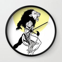 Lion-garou Wall Clock