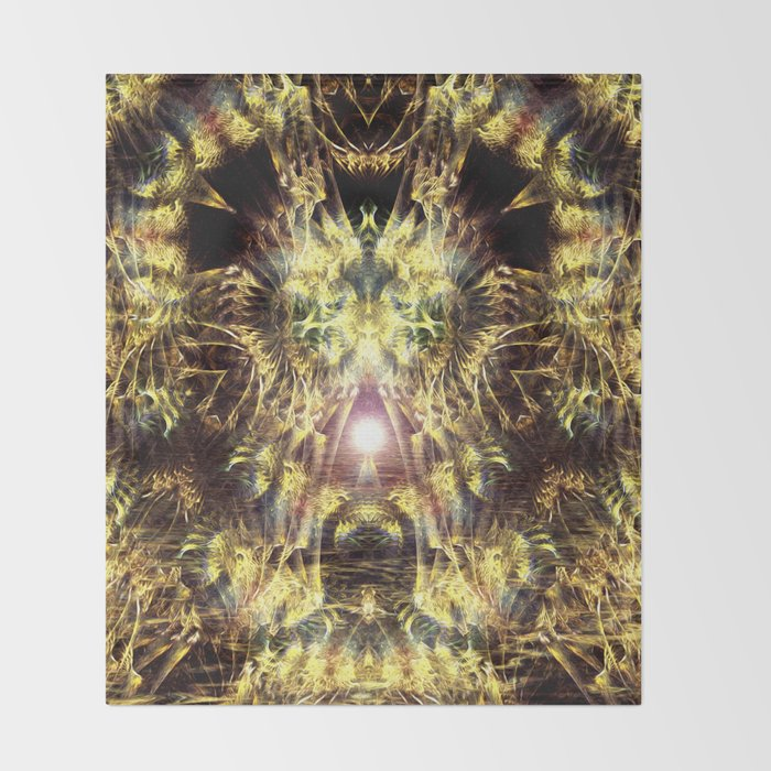 DMT Shaman Visions Throw Blanket