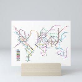 World Metro Subway Map Mini Art Print
