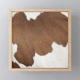 Brown Cowhide, Cow Skin Pattern, Farmhouse Decor Framed Mini Art Print