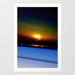 OH car sunrise Art Print