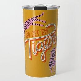 Go Get 'Em Tiger – Yellow Palette Travel Mug