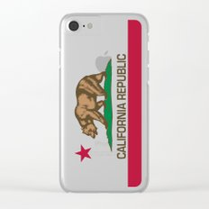 California Republic Flag, High Quality Image Clear iPhone Case