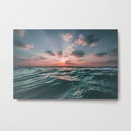Sunset Tide Metal Print