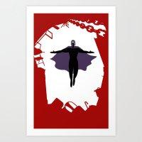 Magnet Man Art Print
