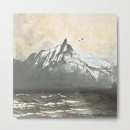 Sea.Mountains.Light. ii. Metal Print