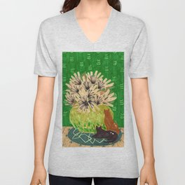 Chartreuse Vase drawing by Amanda Laurel Atkins Unisex V-Neck