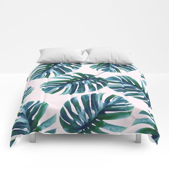 Monstera Pattern #society6 #decor #buyart Comforters