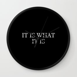 it is what it is saying Wall Clock