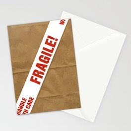 Fragile With Care Stationery Cards