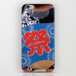 Japanese woman dancing in a matsuri iPhone Skin
