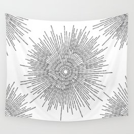 Bridging on White Background Wall Tapestry