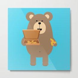Brown Bear eating Metal Print