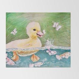 Duck Pond Throw Blanket