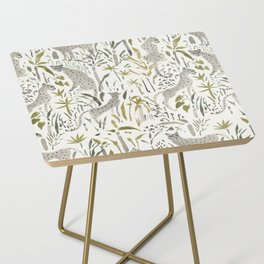 Grey Cheetahs Side Table