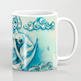 Girl on the Moon Coffee Mug