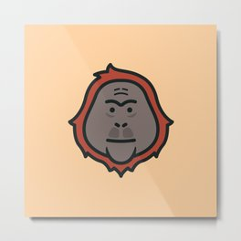 Orangutan Icon Metal Print