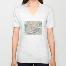 New Orleans City Map Unisex V-Neck