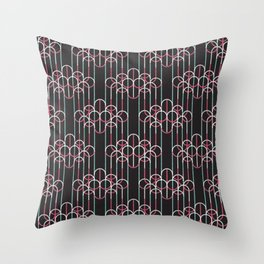 Chandeliers Black Throw Pillow