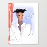 basquiat Canvas Prints featuring Basquiat  by lindseybaker