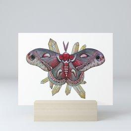 Hyalophora cecropia and Citrine Mini Art Print