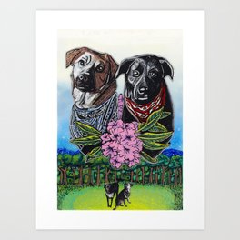 Top Field Dogs Art Print