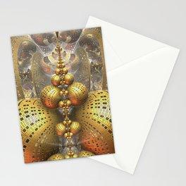 Gold Fractals Stationery Cards