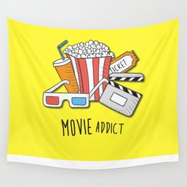 Movie Addict Wall Tapestry